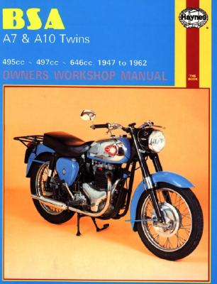 Bsa A7 Abd A10 Twins Owners Workshop Manual By Clew, Jeff/ Strasman, Peter G./ Haynes, John Harold
